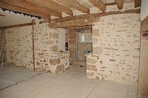 Suivi de chantier ca avance terre pierre et chaux - Enduit taloche interieur ...